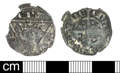 DENO-C7CFD2: Medieval Coin: Farthing of Edward I (Irish Issue)