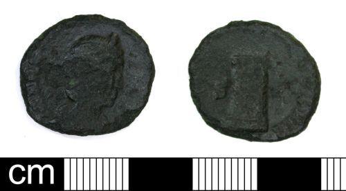 DENO-513595: Roman Coin: Nummus of XXXX