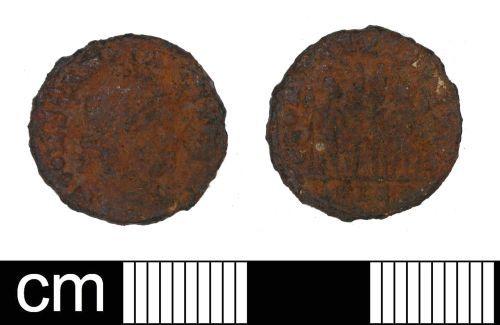 DENO-8C1157: Roman Coin: Nummus of House of Constantine