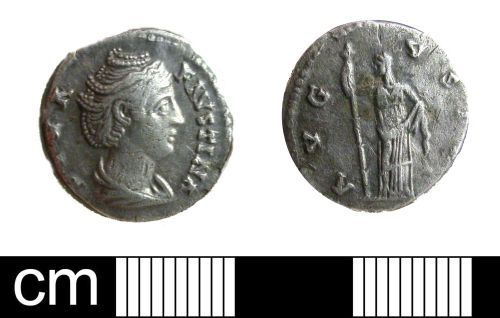 DENO-6F1285: Roman Coin: Denarius of Faustina I