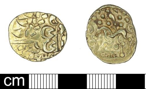 DENO-D857D4: Iron Age Coin: Gold Stater Early Uniscribed