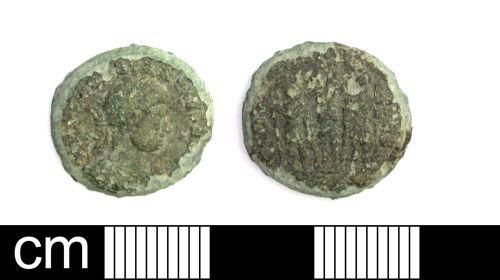 DENO-4FEA77: Roman Coin: Nummus of House of Constantine