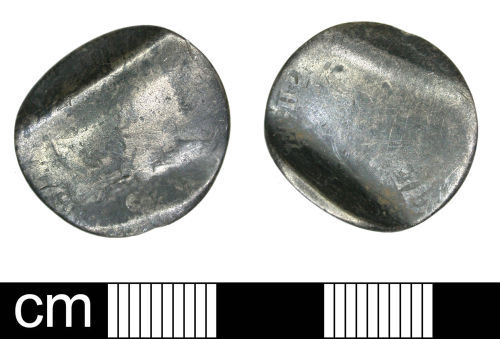 DENO-5CA138: Post Medieval Coin: Sixpence of George III (Love token)