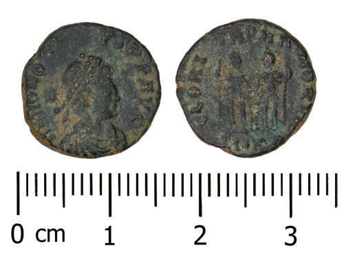 DENO-784AB4: Roman Coin: Nummus of Honorius