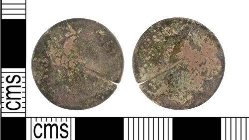 KENT-18D6E6: A very worn Post Medieval copper alloy double tournois of Louis XIII.