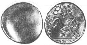A resized image of An Iron Age Gold stater from NULL NULL Celtic Coin Index reference:  98.2218