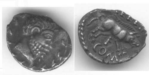 CCI-0081: An Iron Age Unit from NULL of Eppillus Atrebates Celtic Coin Index reference:  0.081