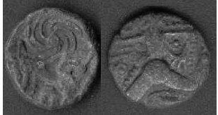 CCI-01773: An Iron Age Bronze unit from KENT Veliocasses Celtic Coin Index reference:  0.1773
