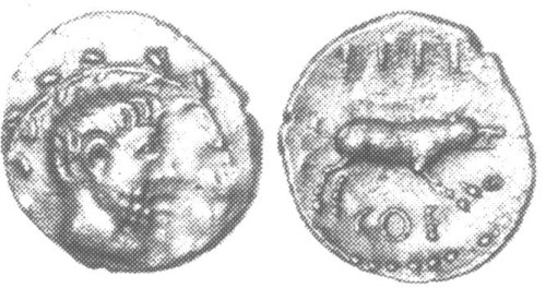 CCI-10108: An Iron Age Unit from NULL of Eppillus Atrebates Celtic Coin Index reference:  1.0108