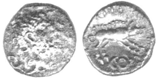 CCI-11616: An Iron Age Unit from NULL of Eppillus Atrebates Celtic Coin Index reference:  1.1616