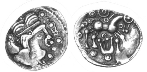 CCI-2073: An Iron Age Unit from HAMPSHIRE Uninscribed Celtic Coin Index reference:  2.073