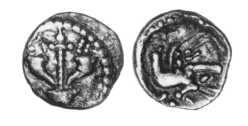 CCI-30086: An Iron Age Minim from BUCKINGHAMSHIRE Atrebates Celtic Coin Index reference:  3.0086