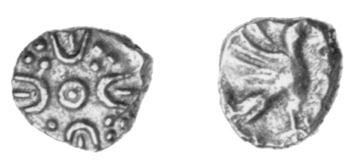 CCI-30391: An Iron Age Minim from SURREY Atrebates Celtic Coin Index reference:  3.0391