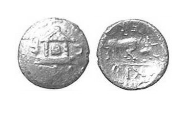 CCI-30557: An Iron Age Minim from HAMPSHIRE of Verica Atrebates Celtic Coin Index reference:  3.0557