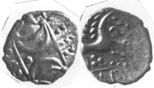 CCI-610981: An Iron Age Unit from SUFFOLK of Anted Iceni Celtic Coin Index reference:  61.0981