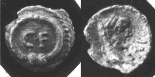 CCI-66009: An Iron Age Minim from OXFORDSHIRE of Verica Atrebates Celtic Coin Index reference:  66.009