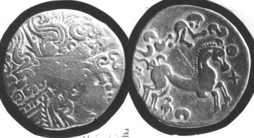 CCI-680602: An Iron Age Gold stater from DORSET NULL Celtic Coin Index reference:  68.0602