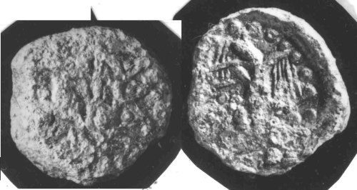 A resized image of An Iron Age Bronze unit from HAMPSHIRE Carnutes Celtic Coin Index reference:  78.0111
