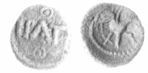 CCI-83013: An Iron Age Minim from BERKSHIRE of Epaticcus Atrebates Celtic Coin Index reference:  83.013