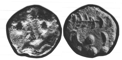 CCI-860039: An Iron Age Bronze unit from DORSET Durotriges Celtic Coin Index reference:  86.0039
