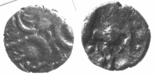 CCI-880074: An Iron Age Minim from DORSET Atrebates Celtic Coin Index reference:  88.0074