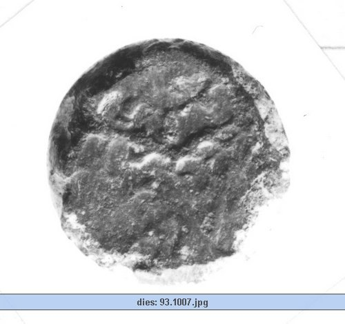 CCI-931007: An Iron Age NULL from HAMPSHIRE NULL Celtic Coin Index reference:  93.1007