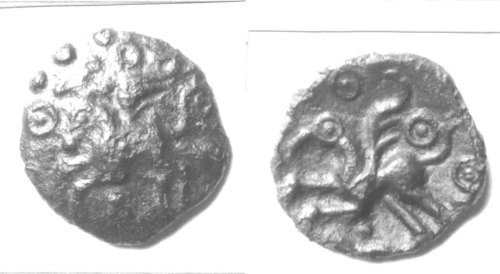 CCI-94028: An Iron Age Bronze unit from KENT Trinovantes Celtic Coin Index reference:  94.028