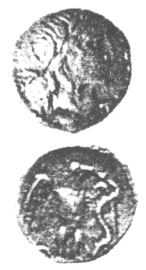 A resized image of An Iron Age Unit from SURREY Atrebates Celtic Coin Index reference:  96.0067