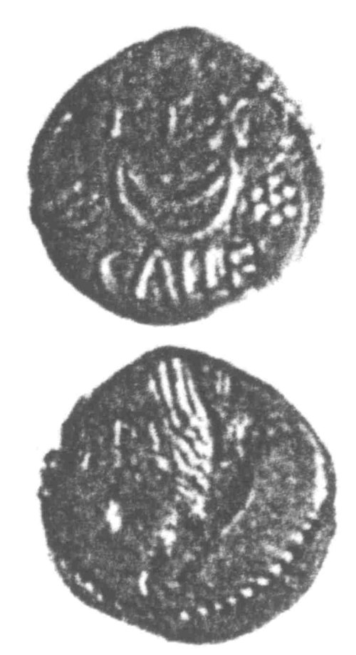 A resized image of An Iron Age Unit from SURREY of Eppillus Atrebates Celtic Coin Index reference:  96.0173