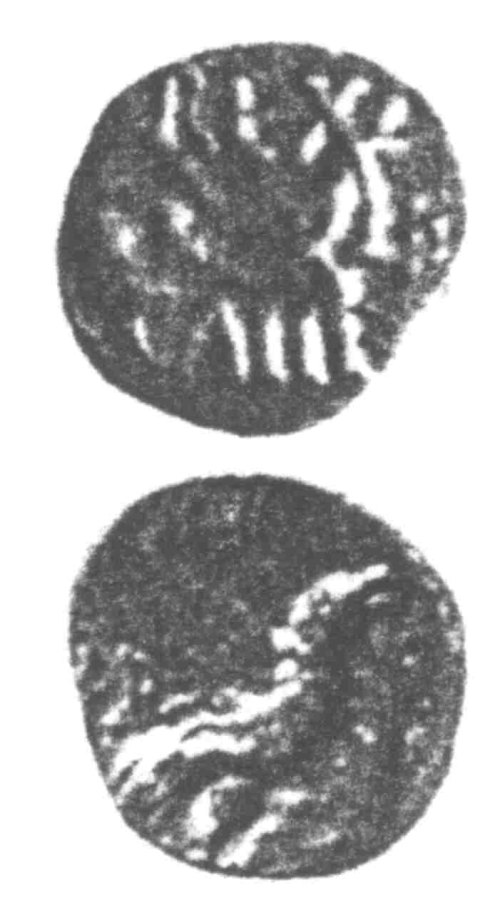 A resized image of An Iron Age Unit from SURREY of Eppillus Atrebates Celtic Coin Index reference:  96.0178