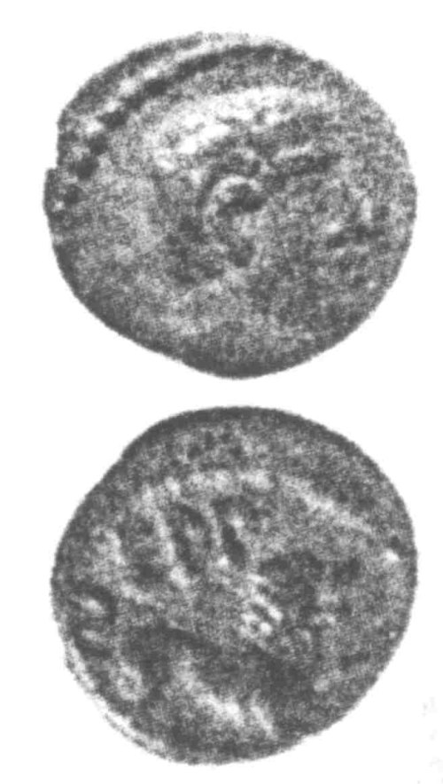 A resized image of An Iron Age Unit from SURREY of Eppillus Atrebates Celtic Coin Index reference:  96.0215
