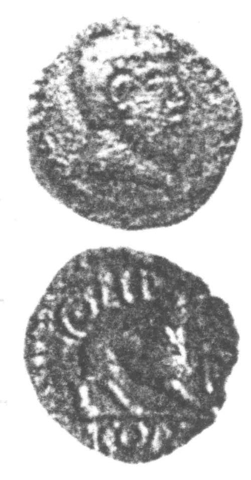 CCI-960216: An Iron Age Unit from SURREY of Eppillus Atrebates Celtic Coin Index reference:  96.0216