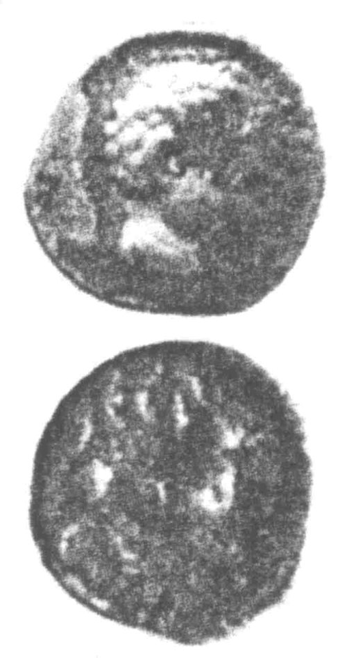 A resized image of An Iron Age Unit from SURREY of Eppillus Atrebates Celtic Coin Index reference:  96.0222