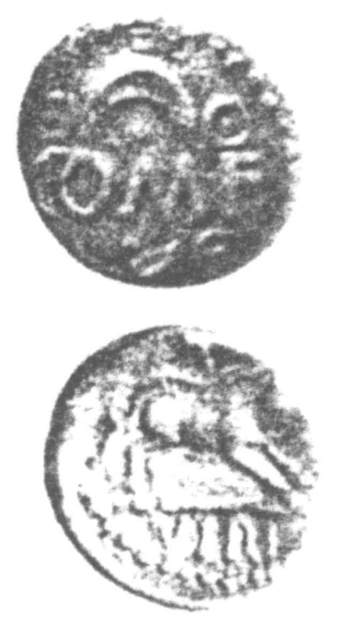 A resized image of An Iron Age Unit from SURREY of Verica Atrebates Celtic Coin Index reference:  96.0304