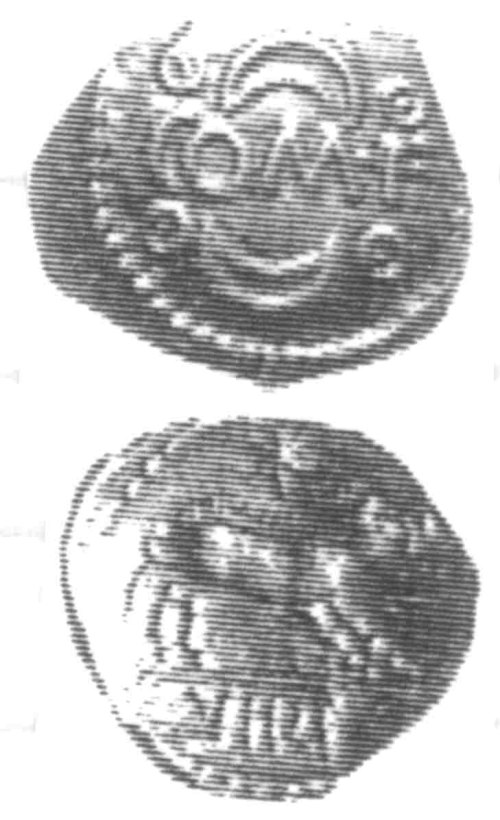 CCI-960308: An Iron Age Unit from SURREY of Verica Atrebates Celtic Coin Index reference:  96.0308