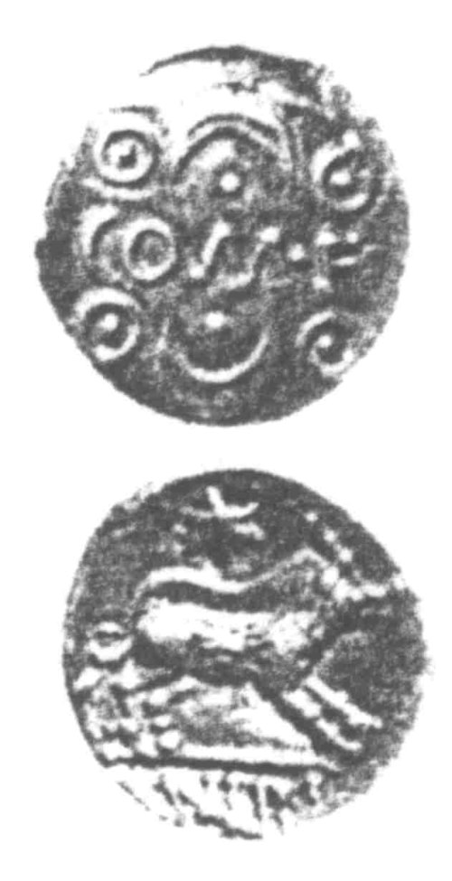 CCI-96031: An Iron Age Unit from SURREY of Verica Atrebates Celtic Coin Index reference:  96.031
