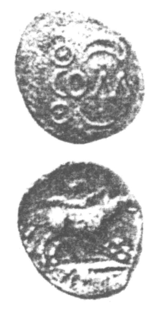 A resized image of An Iron Age Unit from SURREY of Verica Atrebates Celtic Coin Index reference:  96.0311
