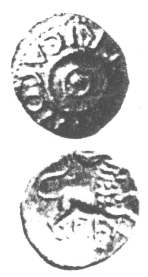 A resized image of An Iron Age Unit from SURREY of Verica Atrebates Celtic Coin Index reference:  96.0369
