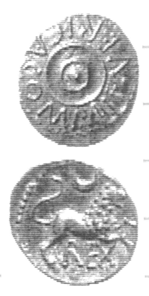 A resized image of An Iron Age Unit from SURREY of Verica Atrebates Celtic Coin Index reference:  96.0383