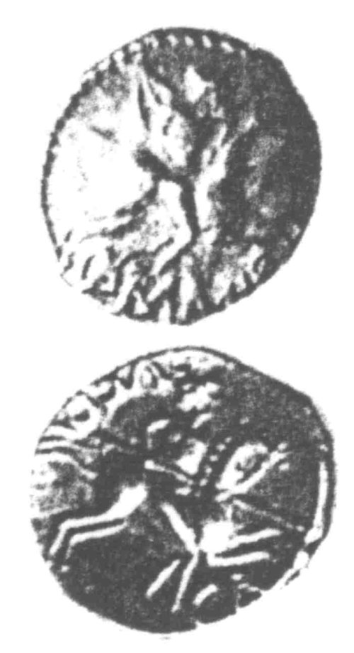 CCI-960396: An Iron Age Unit from SURREY of Verica Atrebates Celtic Coin Index reference:  96.0396