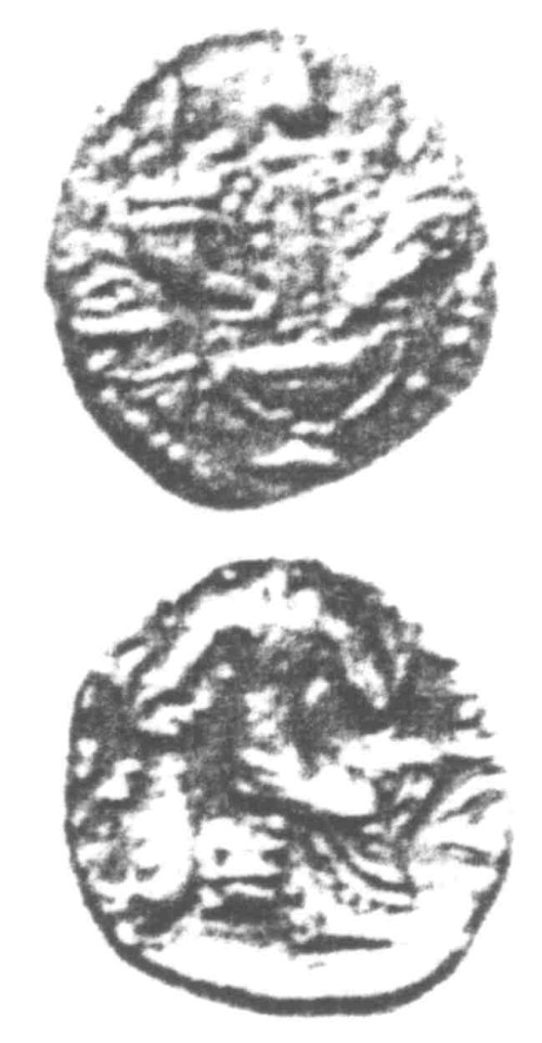 A resized image of An Iron Age Unit from SURREY of Verica Atrebates Celtic Coin Index reference:  96.0408
