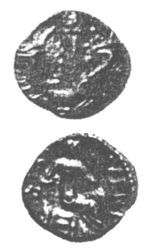 A resized image of An Iron Age Unit from SURREY of Verica Atrebates Celtic Coin Index reference:  96.0412