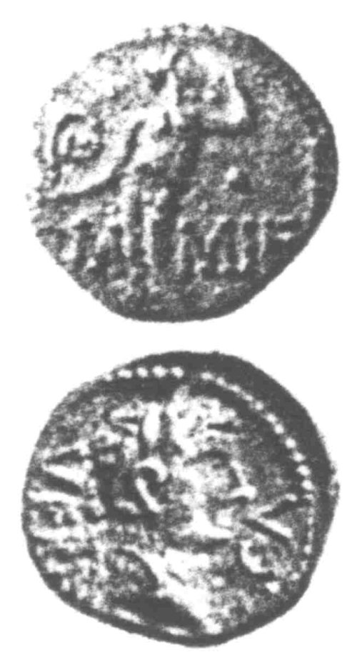 CCI-960444: An Iron Age Unit from SURREY of Verica Atrebates Celtic Coin Index reference:  96.0444