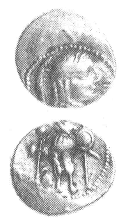 CCI-961352: An Iron Age Unit from NULL Arverni Celtic Coin Index reference:  96.1352