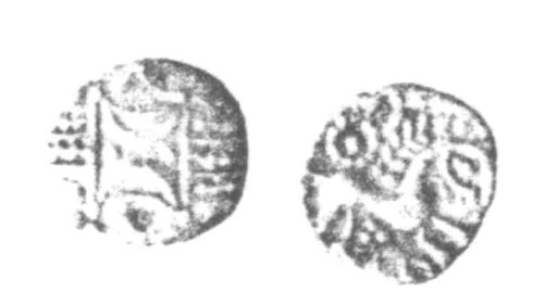 CCI-961598: An Iron Age Unit from SUFFOLK of Anted Iceni Celtic Coin Index reference:  96.1598