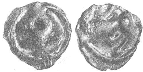 CCI-961631: An Iron Age Bronze unit from WEST SUSSEX Turones Celtic Coin Index reference:  96.1631