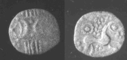 CCI-962602: An Iron Age Unit from SUFFOLK of Anted Iceni Celtic Coin Index reference:  96.2602