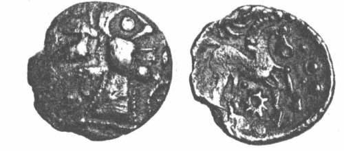A resized image of An Iron Age Unit from SURREY Atrebates Celtic Coin Index reference:  97.0046