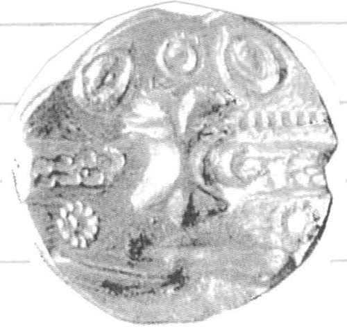 CCI-970298: An Iron Age Gold quarter stater from NULL NULL Celtic Coin Index reference:  97.0298