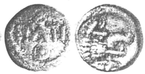 A resized image of An Iron Age Minim from SURREY of Epaticcus Atrebates Celtic Coin Index reference:  97.0825